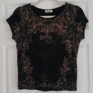 T Shirt Paris Embellished